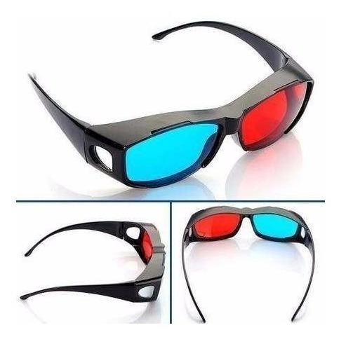 anteojos 3d anaglifos lentes gafas rojo cyan