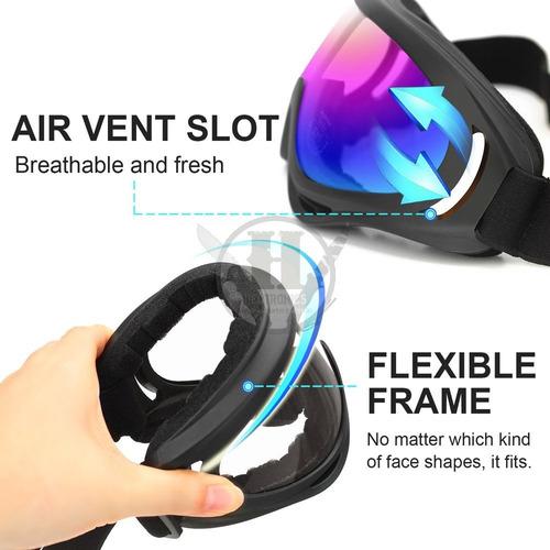 anteojos antiparra tacticos azul espejado sp51139 flexible