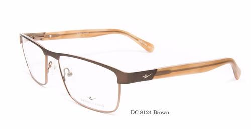 anteojos armazon marcos lentes daniel cassin 8124 brown