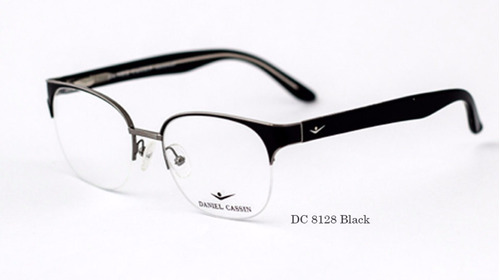 anteojos armazon medio marco receta daniel cassin 8128 black
