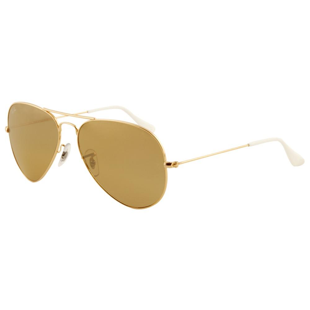 eefaf0e4998b5 anteojos aviador clásico dorado marron b15rayban 3025 lentes. Cargando zoom.