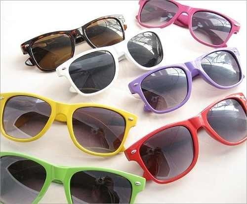 anteojos de cotillon 50 unidades colores wayfarer risky