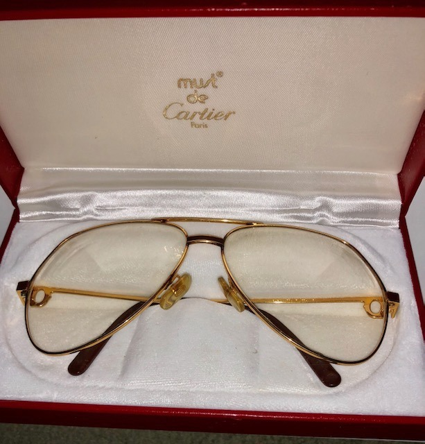 Oro Original Cartier 000 Sol China Paris89 Anteojos De Laque vmOP8nN0yw