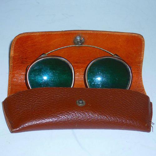 anteojos de sol de cristal p/sobreponer muy retros impecable