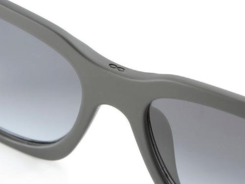 anteojos de sol infinit platón negro mate lente gris degradé