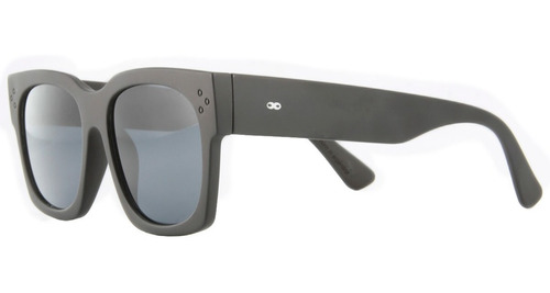 anteojos de sol infinit platón negro mate lente gris large