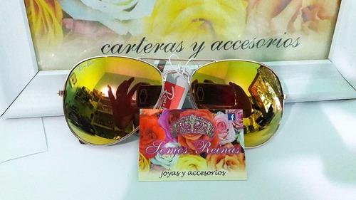 anteojos de sol tipo aviador, importados con proteccion uv