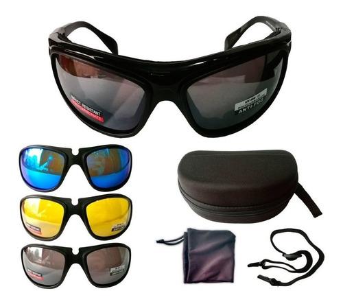 anteojos lente antiparra 3 en 1 sol y noche - sti motos