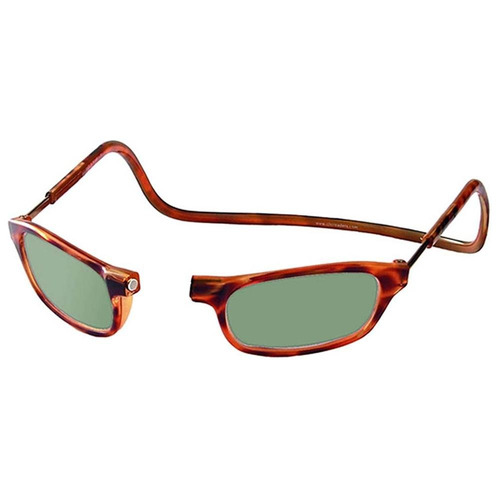 anteojos lentes de sol con iman click  color carey
