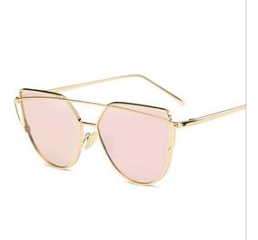 nuevo producto bc01d bb12e Anteojos Lentes De Sol Espejados Mujer Cat Eye Moda 2019