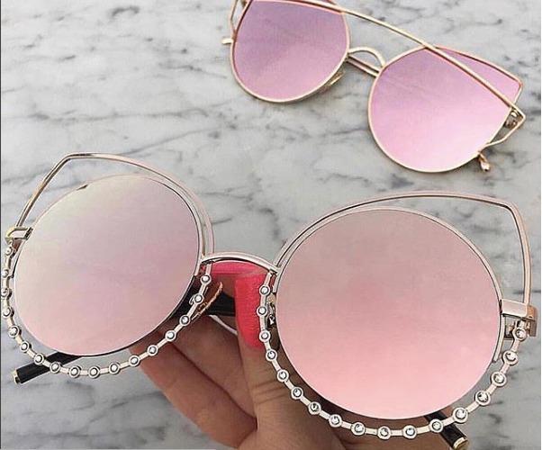 b6cb8ecca4 Anteojos Lentes Sol Espejado Rosa Cat Eye Strass Dior Celine - $ 999 ...