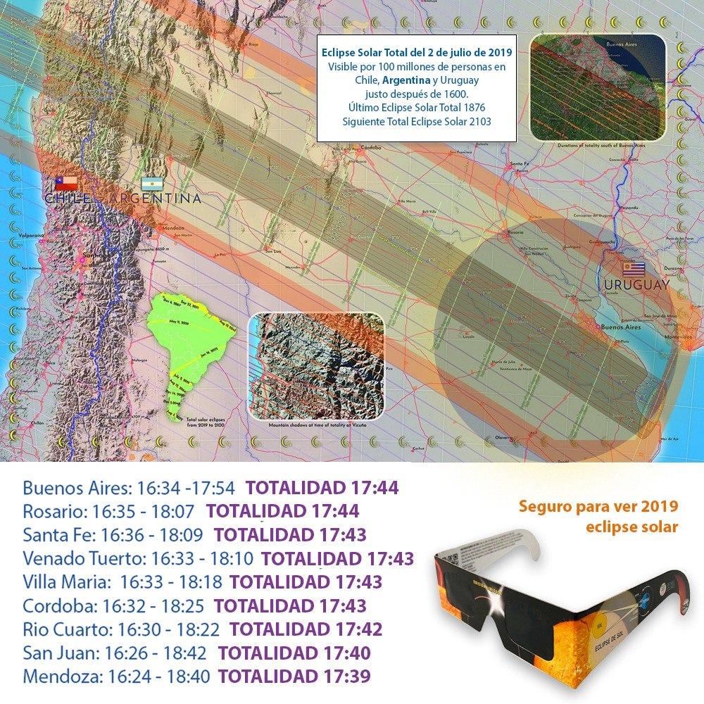 54d36c8c7a Anteojos Para Ver El Eclipse Solar 2019 Argentina Lentes X4 - $ 999 ...
