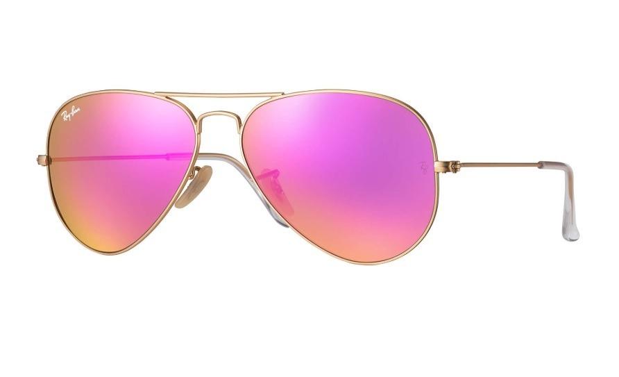 32c519e7aa anteojos ray ban aviador rosa espejado 112/68f originales. Cargando zoom.