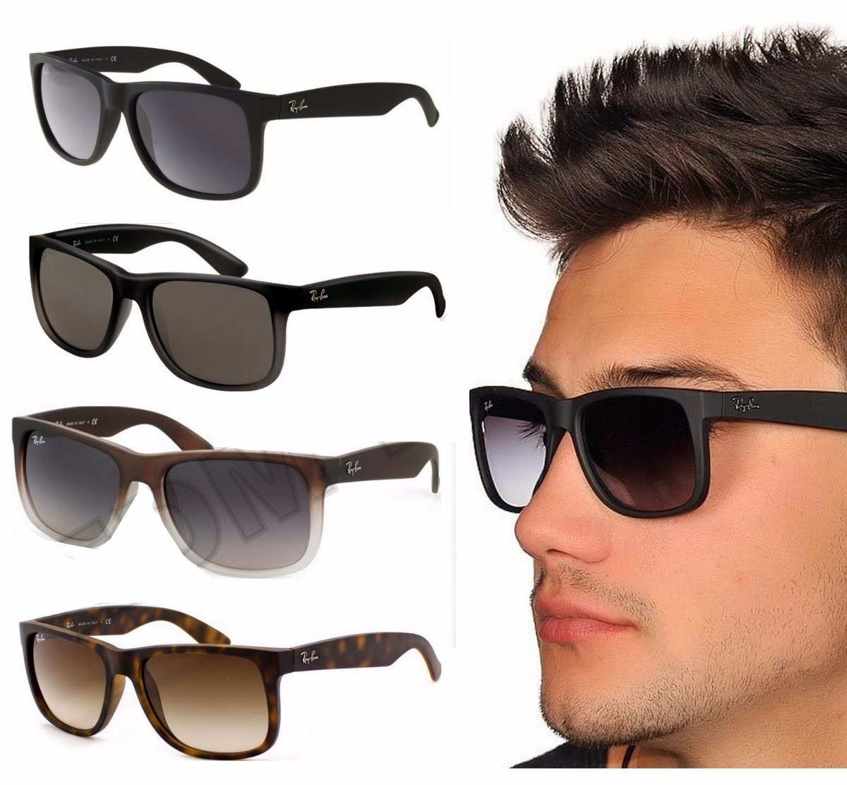 c6616714f3e02 ... purchase anteojos ray ban justin 4165 originales consultar cargando  zoom. a2c23 3421b
