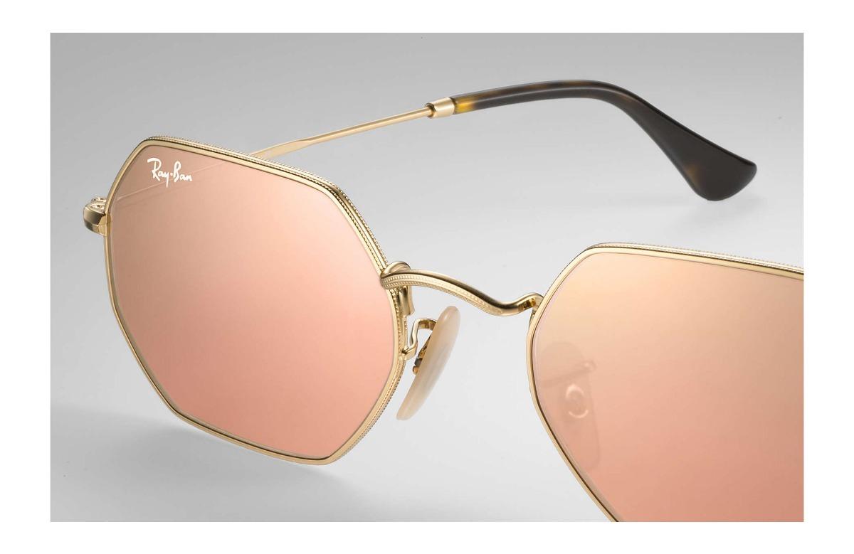 bff4da41481f1 anteojos ray ban rosa octogonal original italia envío gratis. Cargando zoom.