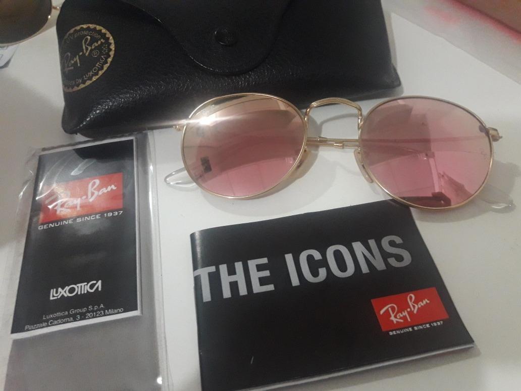 Anteojos Ray Ban Round Metal Pink Mirror Modelo 3447 -   2.100,00 en ... 3c1a22811e