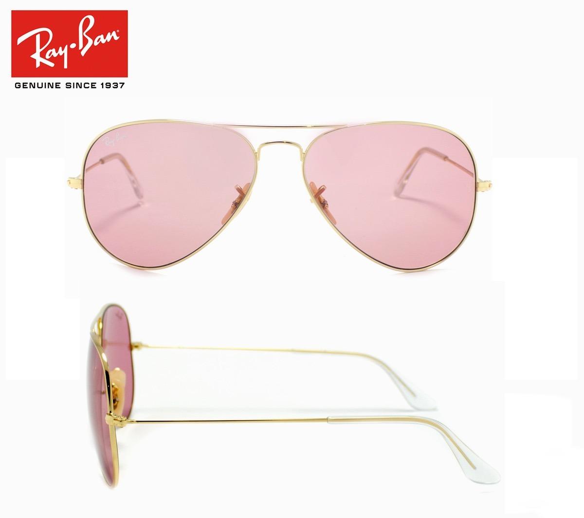 067eab7d62e77 anteojos rayban lentes originales aviador rb3025 001 4b rosa. Cargando zoom.