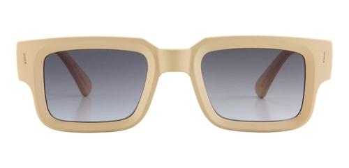 anteojos sol infinit exclamation beige lente gris degradé