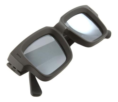 anteojos sol infinit exclamation negro mate lente espejada