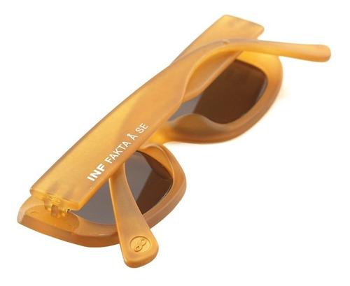 anteojos sol infinit new york amarillo mate lente marron