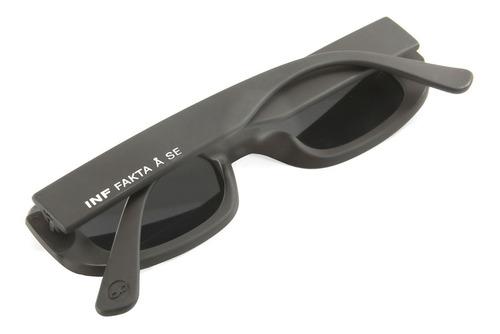 anteojos sol infinit new york negro mate lente gris medium
