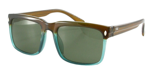 anteojos sol lentes infinit cuadrado marron y verde