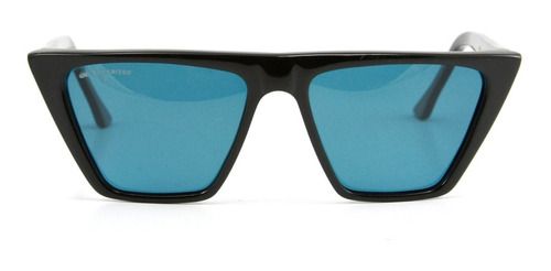 anteojos sol lentes infinit frida - negro y azul polarizado