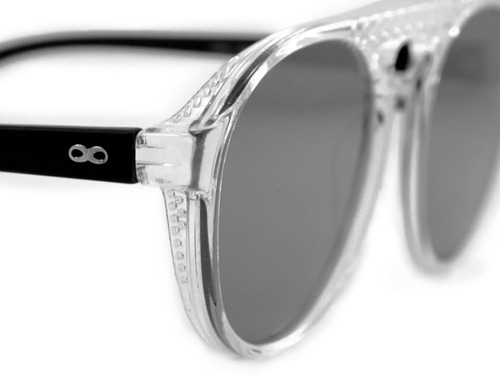 anteojos sol lentes infinit gruyere - crystal.bm.smk.mirror