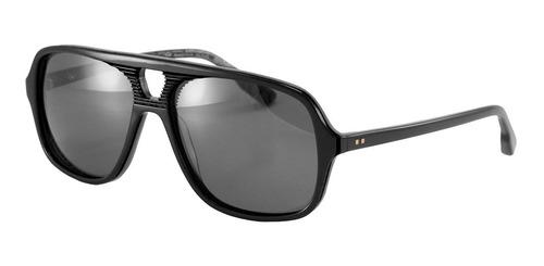 anteojos sol lentes infinit rafa negro lente gris polarizado