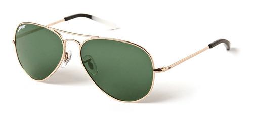 anteojos sol lentes infinit super small dorado lente verde