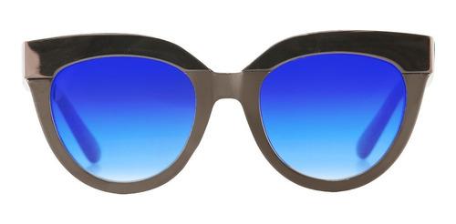 anteojos sol milan infinit by pampita marrón lente azul
