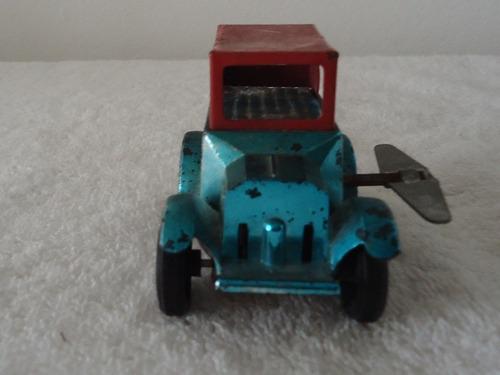 antguo coche de cuerda lámina años 40s hecho en japon