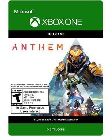 anthem xbox one codigo original juego digital.