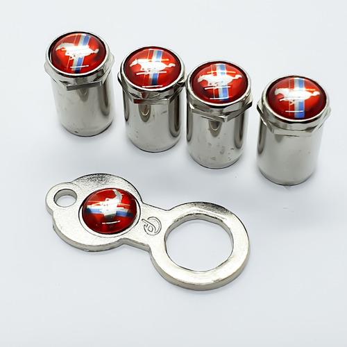 anti furto bico pino válvula mustang cromado para roda