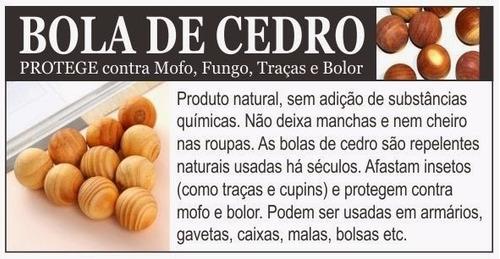 anti mofo, bolor & traças bolinhas de cedro 3 pcts