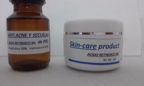 anti strias y secuelas acido  retinoico 4 y 8%