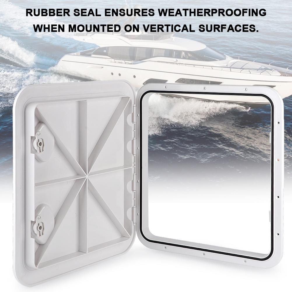 ABS Anti-UV RE-370-375 Tapa de escotilla de cubierta marina cuadrada Accesorios para barcos RV Yacht Blanco Tapa de escotilla de cubierta