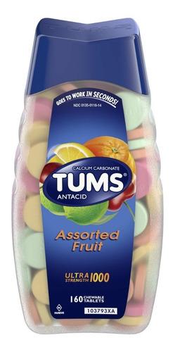 antiacido tums sabor frutas 160 tabletas caramelos original