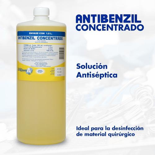 antibenzil solución antiséptica quirúrgico amarillo 1 litro
