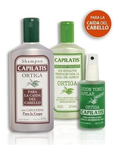 anticaída capilatis ortiga shampoo enjuague loción cab caspa