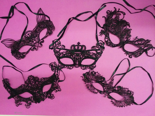 antifaces tela encaje negro x 100 sombras