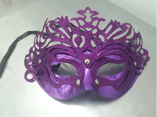 antifaz con escarcha disfraz carnaval x1 despacho ya!!