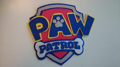 antifaz en goma eva - paw patrol