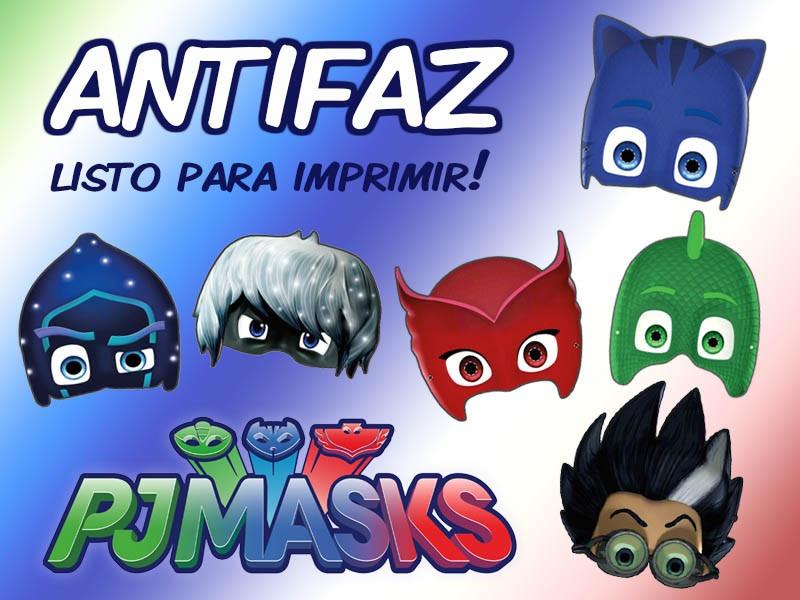 Mascaras PJ Mask Gratis Para Imprimir E Recortar