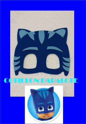 antifaz pj mask souvenir infantil goma eva heroes en pijama