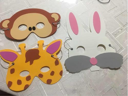 antifaz souvenir infantil goma eva animales x 10