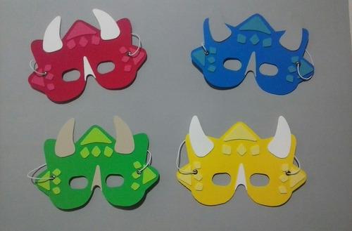 antifaz souvenir infantil goma eva dinosarios x 10