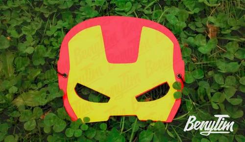 antifaz souvenir infantil super heroes goma eva x10