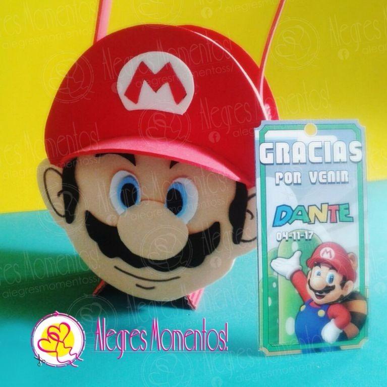 ad6547cff Antifaz Super Mario Bross X 12 Unidades - $ 336,00 en Mercado Libre