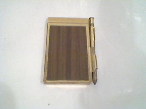 antiga agenda de bolso  com lapis - telefones a - z